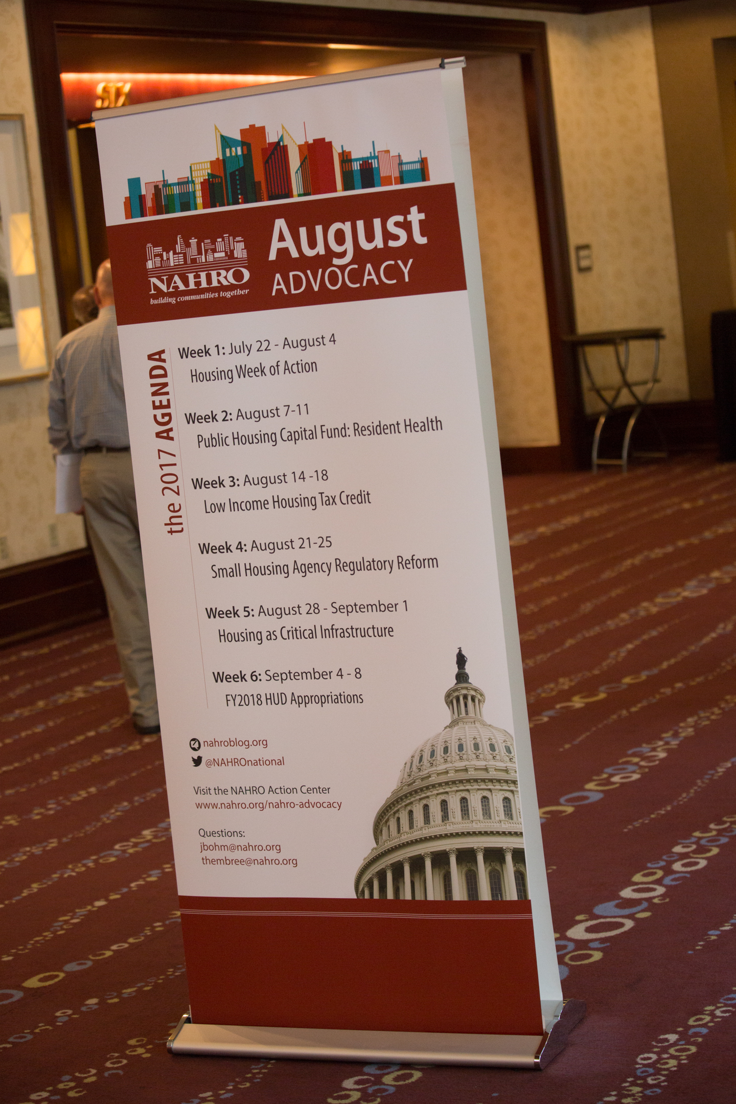 retractable banner August Advocacy